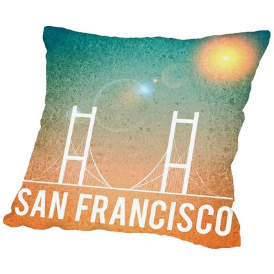 San Francisco Throw Pillow Size: 20 H x 20 W x 2 D