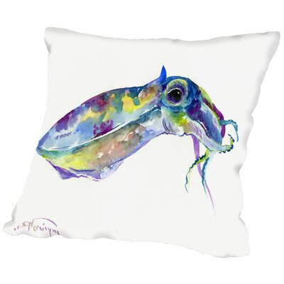 Squid Throw Pillow Size: 16 H x 16 W x 2 D