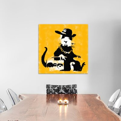 Gangster Rat Painting Print on Wrapped Canvas ESHM7082 34328307