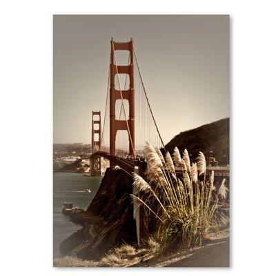 "Vintage Style Golden Gate Bridge Photographic Print Size: 16"" H x 12"" W ESHM7699 34332314"