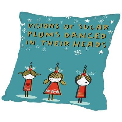 Sugar Plums Throw Pillow Size: 16 H x 16 W x 2 D