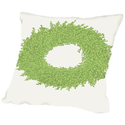 Wreath Throw Pillow Size: 16
