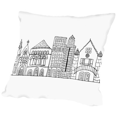 In The City 2 Throw Pillow Size: 16
