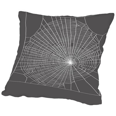 Spiderweb2 Throw Pillow Size: 20 H x 20 W x 2 D