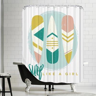 Like A Girl 1 Shower Curtain