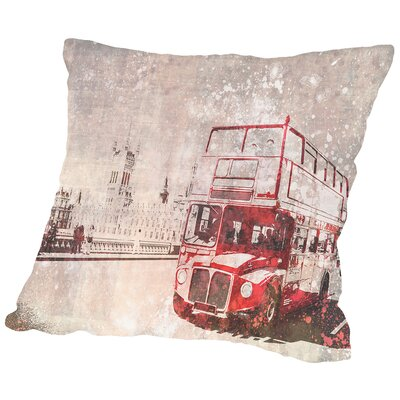 City Art London Red Buses II Throw Pillow Size: 18 H x 18 W x 2 D