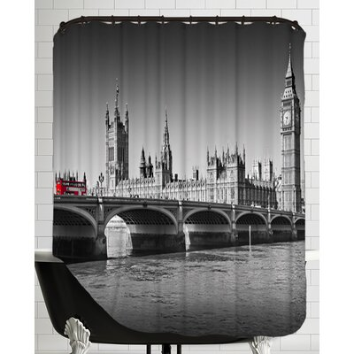 London Red Bus on Westminster Bridge Shower Curtain