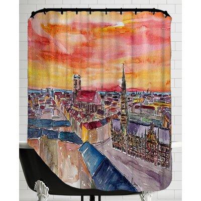 Munich City Center View from St Peter Shower Curtain