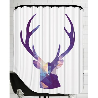 Deer Poly Shower Curtain