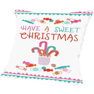 Sweet Christmas Throw Pillow Size: 16 H x 16 W x 2 D