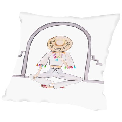 Fiesta Hat Throw Pillow Size: 14