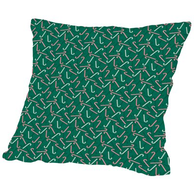 Candy Canes Throw Pillow Size: 20 H x 20 W x 2 D