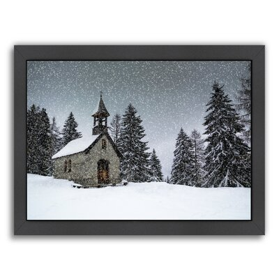 Germany Bavarian Winters Tale Anna Chapel Framed Photographic Print Size: 20.5 H x 26.5 W x 1.5 D