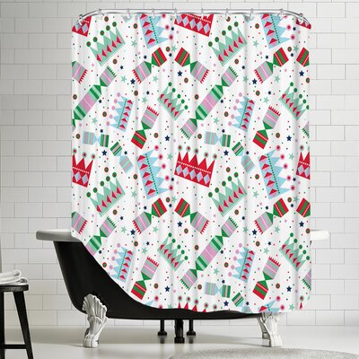 Cracker Pop Shower Curtain Color: White