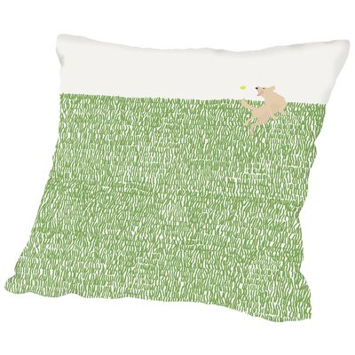 Retriever Throw Pillow Size: 14 H x 14 W x 2 D