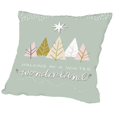 Winter Wonderland Throw Pillow Size: 18 H x 18 W x 2 D