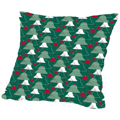 Holiday Bells Throw Pillow Size: 14 H x 14 W x 2 D