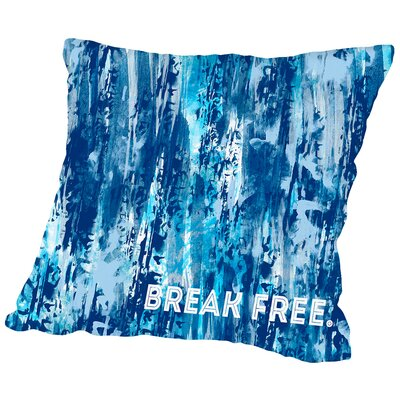 Emotional Art Break Free Throw Pillow Size: 16 H x 16 W x 2 D