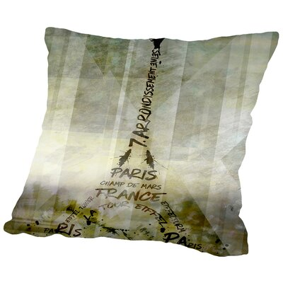 Paris Art Eiffel Tower Geometric Mix No.1 Throw Pillow Size: 18 H x 18 W x 2 D