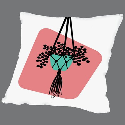 Modern Botanicals Hanging Plant Throw Pillow Size: 18 H x 18 W x 2 D