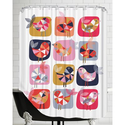 Geo Bird Shower Curtain