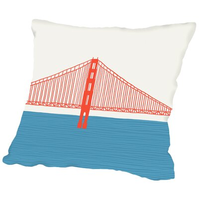 Gg Bridge 3 Throw Pillow Size: 14 H x 14 W x 2 D