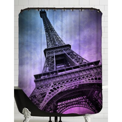 Modern Art Paris Eiffel Tower Shower Curtain