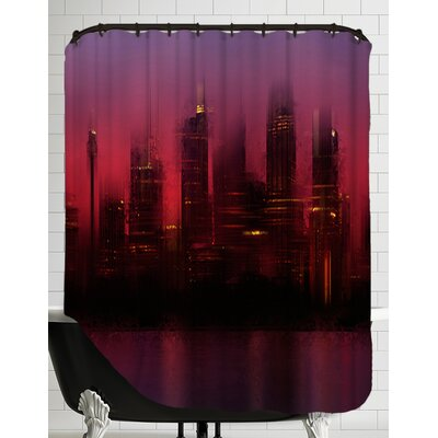 City Art Sydney Skyline at Sunset Shower Curtain