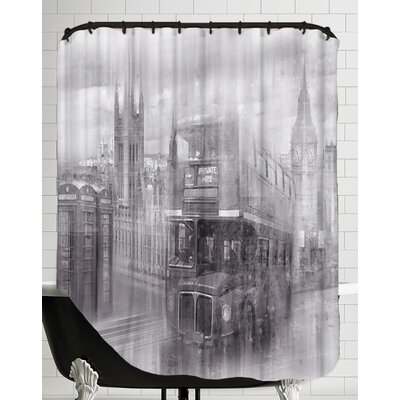 City Art London Westminster Collage Monochrome Shower Curtain