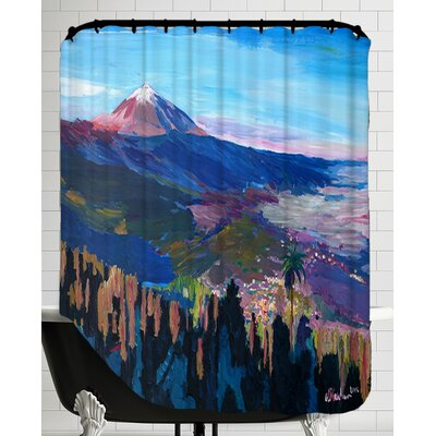 Teide Tenerife Spain Canary Islands Astonishing View Orotava Valley Shower Curtain
