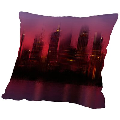 City Art Sydney Skyline at Sunset Throw Pillow Size: 16 H x 16 W x 2 D