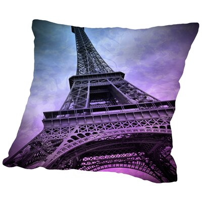 Modern Art Paris Eiffel Tower Throw Pillow Size: 14 H x 14 W x 2 D