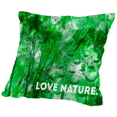 Emotional Art Love Nature Throw Pillow Size: 16