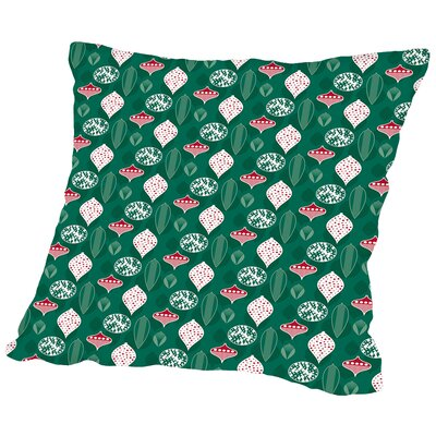 Holiday Baubles Throw Pillow Size: 14 H x 14 W x 2 D