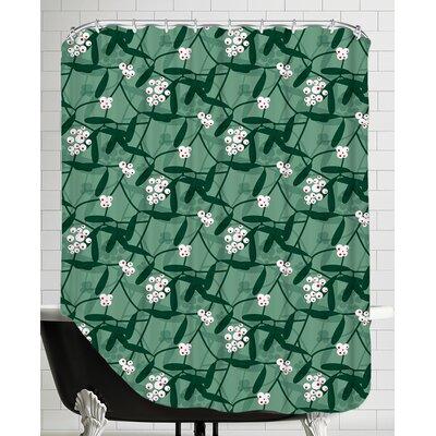 Holiday Mistletoe Shower Curtain