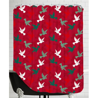 Holiday Doves Shower Curtain