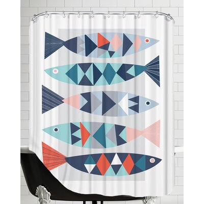 Geo Fish Shower Curtain