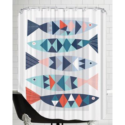Geo Fish Shower Curtain
