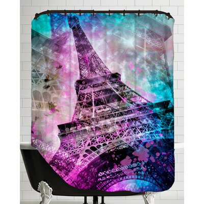 Pop Art Paris Eiffel Tower Shower Curtain