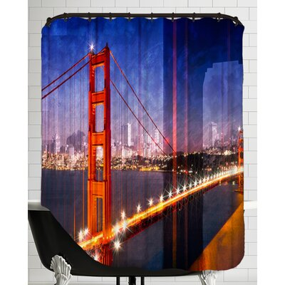 City Art Golden Gate Bridge Composing Shower Curtain