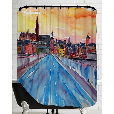 Regensburg Pearl on Danube from Stone Bridge2 Shower Curtain