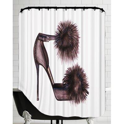 Pom Pom Heels Shower Curtain