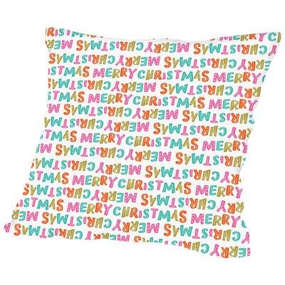 Merry Christmas Throw Pillow Size: 20 H x 20 W x 2 D