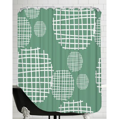 Circle Grids Shower Curtain
