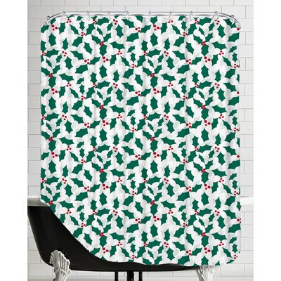 Holiday Holly Shower Curtain