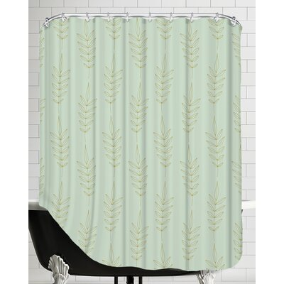 Gold Stem Shower Curtain