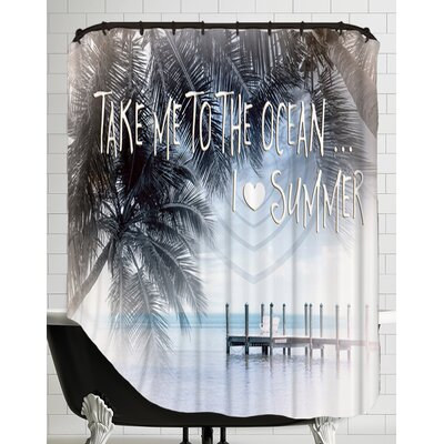 Text Art I Love Summer Shower Curtain
