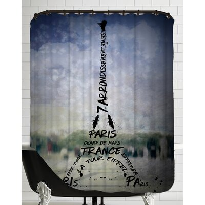 Paris Art Eiffel Tower No.1 Shower Curtain