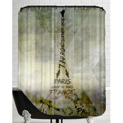 Paris Art Eiffel Tower Geometric Mix No.1 Shower Curtain