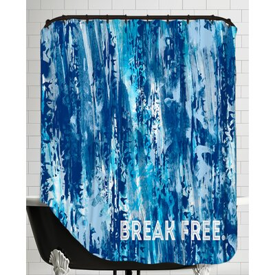 Emotional Art Break Free Shower Curtain